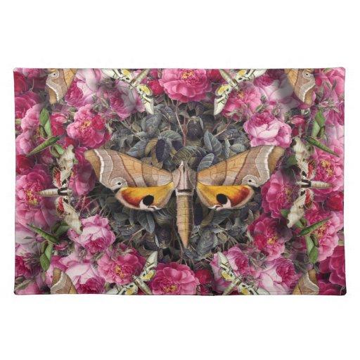 Mandala color de rosa mantel individual