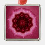 Mandala color de rosa ornamento para reyes magos