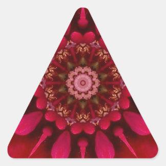Mandala color de rosa calcomanía triangulo personalizadas