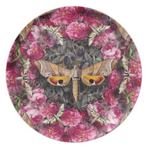 Mandala color de rosa plato