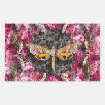 Mandala color de rosa rectangular altavoz