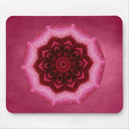 Mandala color de rosa tapetes de ratón