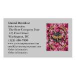 Mandala color de rosa tarjetas de visita