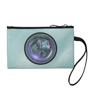 Mandala, Colorful Spring Brush Stroke Abstract Coin Purse