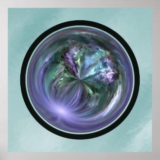 Mandala, Colorful Spring Brush Stroke Abstract Print