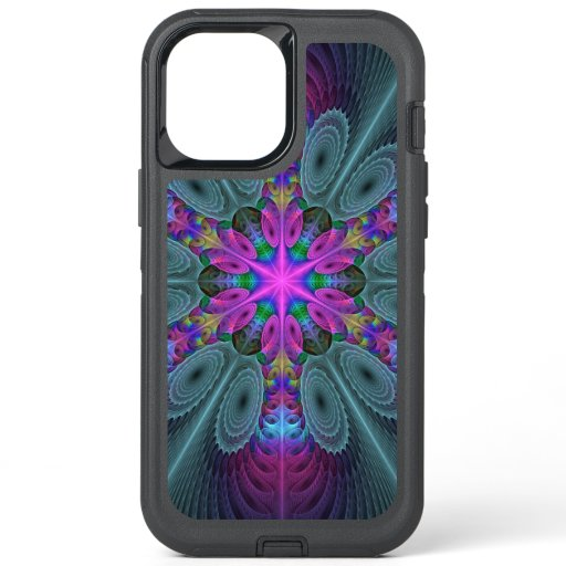Mandala Colorful Striking Fractal Art Kaleidoscope OtterBox Defender iPhone 12 Pro Max Case