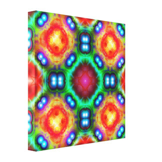 Mandala colorida brillante lona estirada galerias