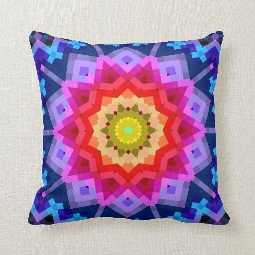 Mandala colorida cojin