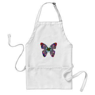 Mandala colorida de la mariposa delantales