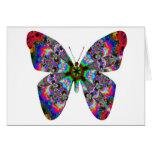Mandala colorida de la mariposa tarjeta de felicitación