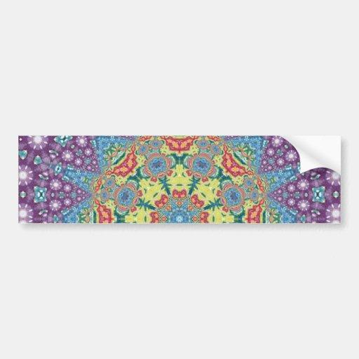 Mandala colorida de la meditación pegatina para auto