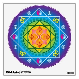 Mandala colorida del budista OM, de Dharma y de