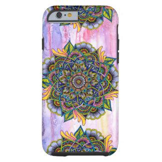 Mandala colorida del verano con el contexto de la funda para iPhone 6 tough