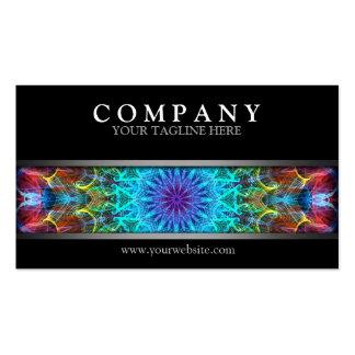 Mandala colorida moderna tarjetas de visita