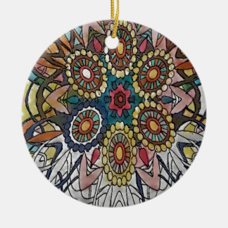 Mandala Coloring Page Gifts Ceramic Ornament