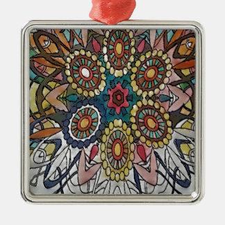 Mandala Coloring Page Gifts Metal Ornament