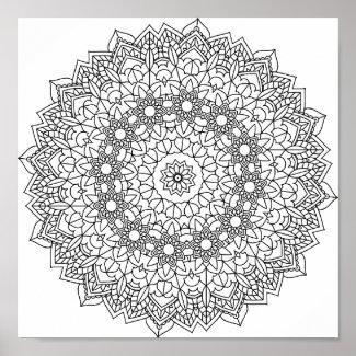 Mandala Coloring Poster