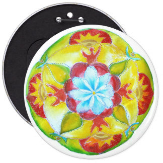 "Mandala Colossal, 15.2 cm (6"") Round Badge Button"