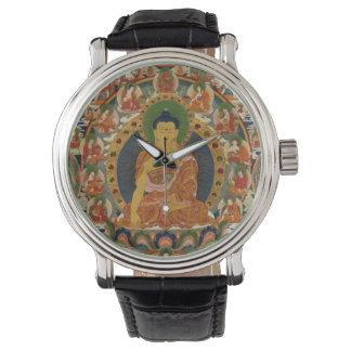 Mandala completa pintada Bhutanese Reloj