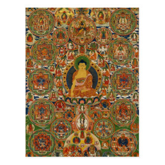 Mandala completa pintada Bhutanese Tarjetas Postales
