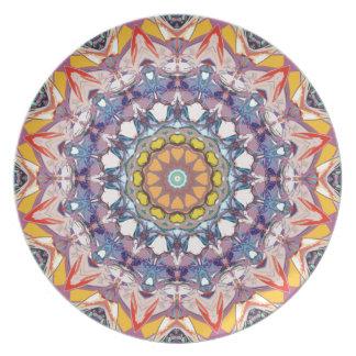 Mandala concéntrica abstracta platos para fiestas