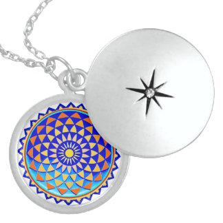 Mandala cósmica collar con colgante