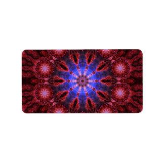 Mandala cósmica de la aureola etiqueta de dirección