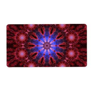 Mandala cósmica de la aureola etiquetas de envío
