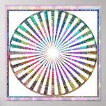 Mandala cósmica del ritmo de Celicial de la Póster