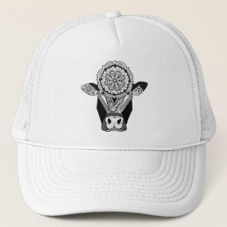 Mandala Cow Trucker Hat