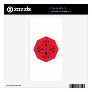 Mandala Creative FOLK RED Ethno. Design atelier Decal For iPhone 4