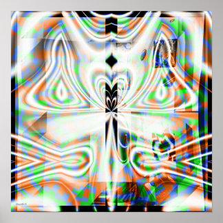 Mandala cristalina 1,3 póster