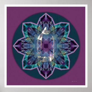 Mandala cristalina 3 póster
