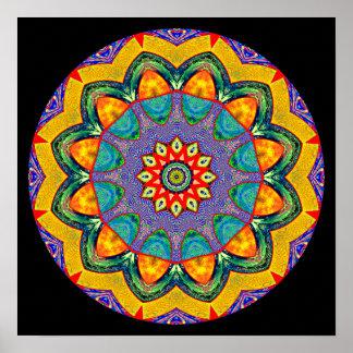 """""""Mandala cristalina del edredón de la mandala"""" Posters"""