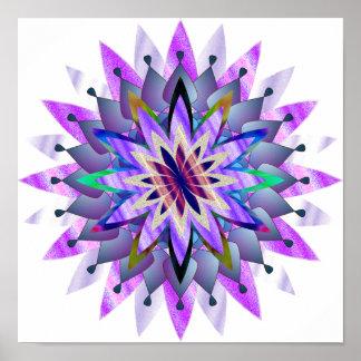 Mandala Damask Lotus Flower Art Elegant Poster