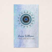 Mandala Damask Lotus Flower Meditation Holistic Business Card