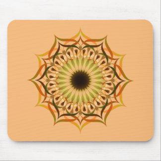 Mandala Damask Lotus Flower Yoga Art Elegant Mouse Pad