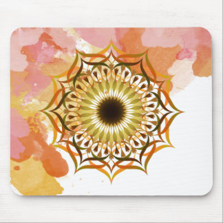 Mandala Damask Watercolor Yoga Art Elegant Mouse Pad