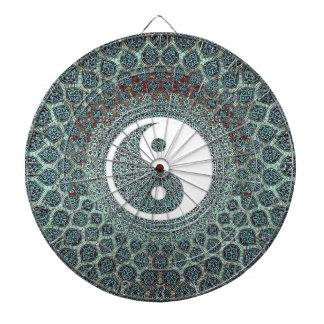 Mandala Dartboard With Darts
