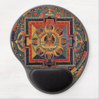 Mandala de Amitabha Buda de Tíbet Alfombrillas De Raton Con Gel