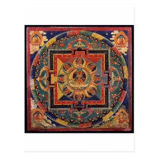 Mandala de Amitayus. Escuela tibetana del siglo XI Tarjeta Postal
