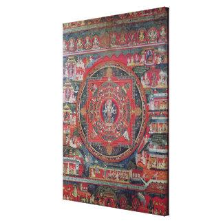 Mandala de Amoghapasa Impresión De Lienzo