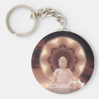 Mandala de Buda Llavero Redondo Tipo Pin