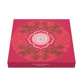 Mandala de Chakra de la raíz Impresion De Lienzo