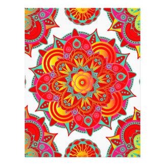 Mandala de Chakra de la raíz Plantilla De Membrete