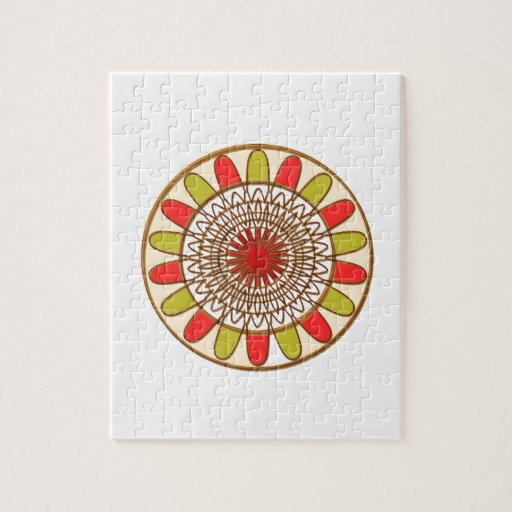 Mandala de Chakra del GIRASOL de la frontera del o Puzzles Con Fotos