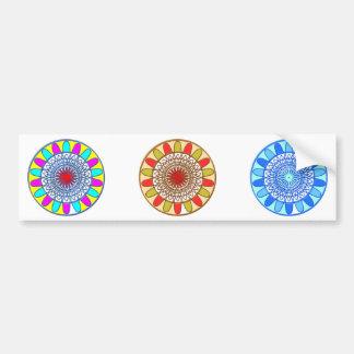Mandala de Chakra del GIRASOL Pegatina Para Auto
