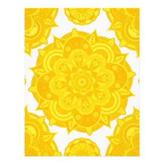 Mandala de Chakra del plexo solar Membretes Personalizados