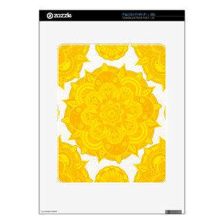 Mandala de Chakra del plexo solar Skin Para El iPad