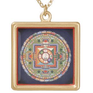 Mandala de Chenrezig (Avalokiteshvara) - oro cuadr Joyeria Personalizada